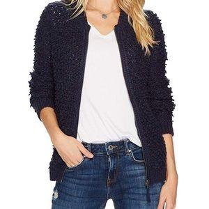 Lucky Brand Sweater Bomber Jacket
